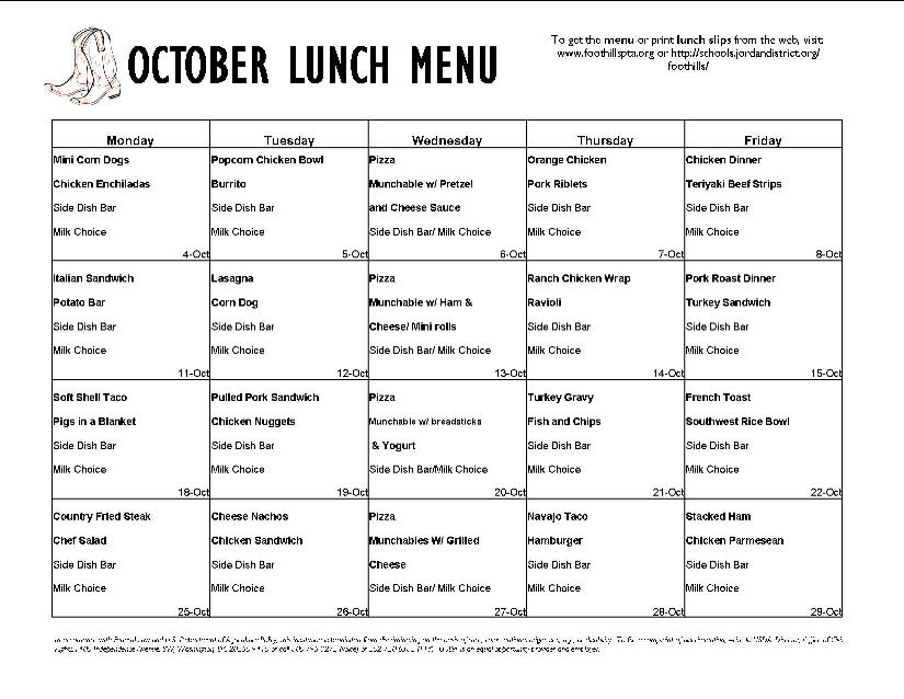 image regarding Free Printable Daycare Menus identify Daycare Menu Template -10+ Free of charge Printable, Pdf Data files
